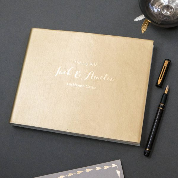 Begolden | |Leather Guest Book