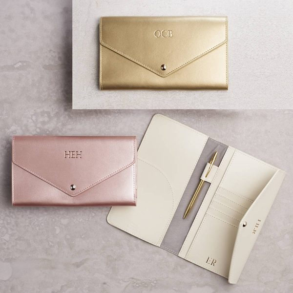 Begolden | Metallic Leather Travel Wallet